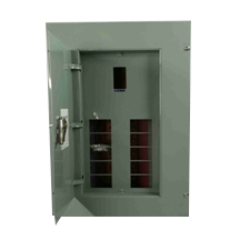 Panel Box 10 Branches - Main Breaker, 2 Pole, Bolt-On Type - G.E Breaker TQD