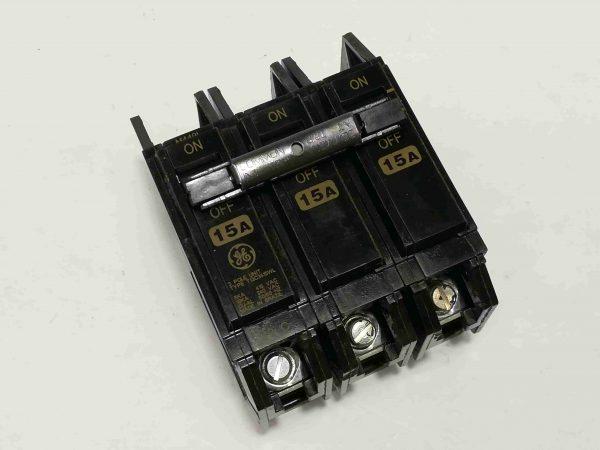 G.E. Circuit Breaker (TQC) - Bolt-On Type, 3 Pole, 240V