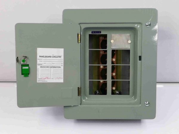 Panel Box 6 Branches - Main Breaker, 2 Pole, Plug-In Type - G.E Breaker TQL