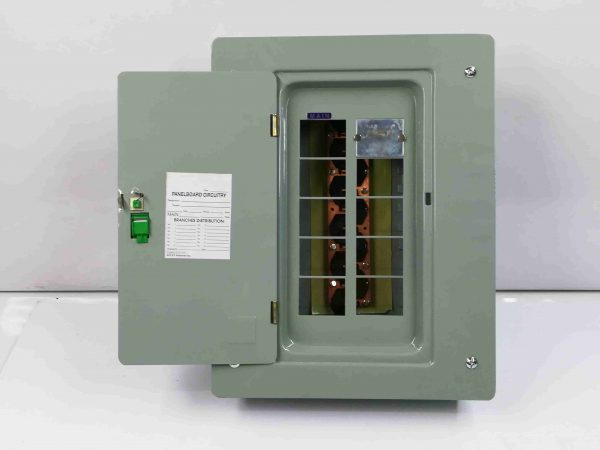 Panel Box 8 Branches - Main Breaker, 2 Pole, Plug-In Type - G.E Breaker TQL