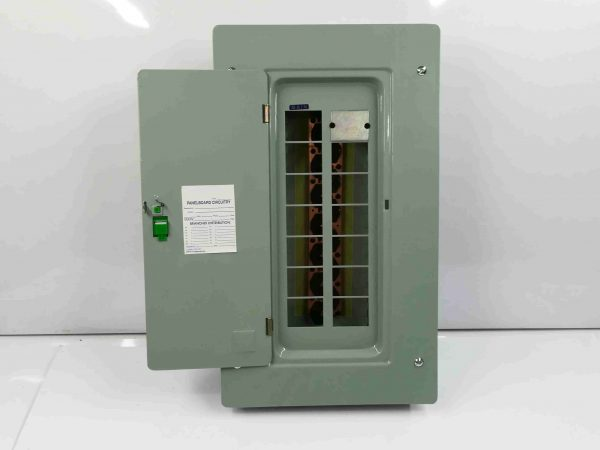 Panel Box 12 Branches - Main Breaker, 2 Pole, Plug-In Type - G.E Breaker TQL