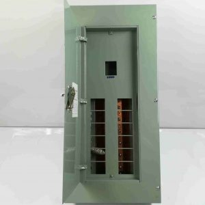 Panel Box 12 Branches - Main Breaker, 2 Pole, Bolt-On Type - G.E Breaker TQC