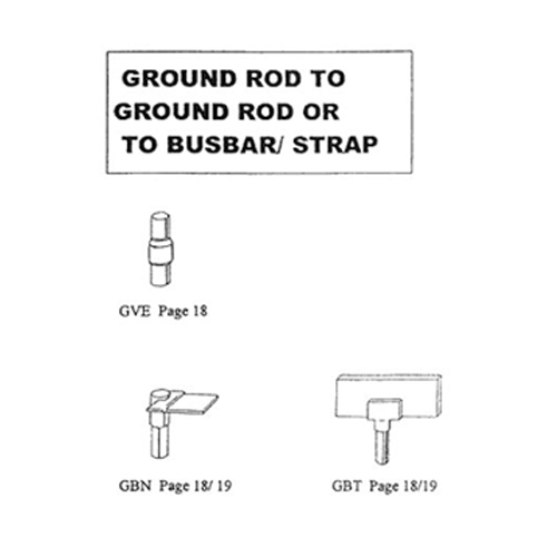Permaweld Exothermic Mould Ground Rod to Ground Rod or to Budbar Connection - Model: GVE, GBN, GBT