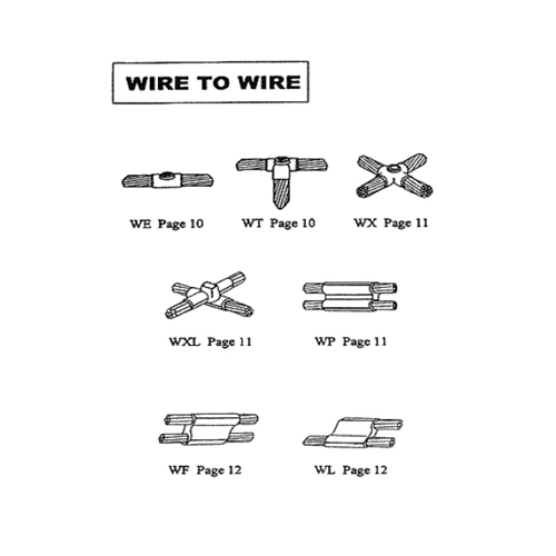 Permaweld Exothermic Mould Wire to Wire Connection - Model: WE,WT,WX,WXL,WP,WF,WL